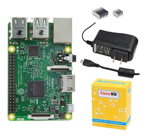 Raspberry Pi 3 Modelo B Canakit Basic Kit Pi3 Adapatador 2.5