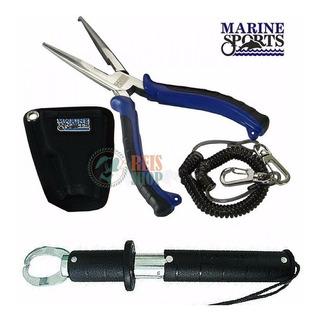 Kit Pesca Alicate Inox Marine Sports + Pega Peixe Balança