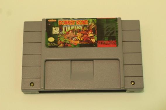 Jogo Donkey Kong 100% Original Usa Para Super Nintendo Snes