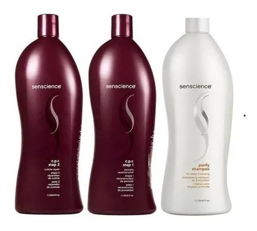 Senscience Cpr Passo 1 E 2+shampoo Purify+mascara Inner 500