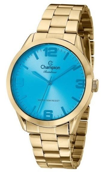 Relógio De Pulso Champion Feminino Azul Rainbow Cn29892e