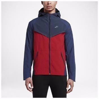 Jaqueta Nike Bonded Tech Windrunner Nylon Com Capuz Az/vrm