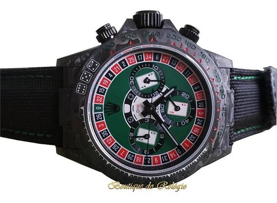 Relógio Eta - Modelo Daytona Diw Lucky Player Cassino Carbon