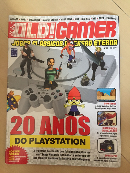 Revista Old Gamer 23 Jogos Clássicos Crash Sony Z014