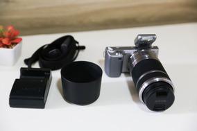 Sony Nex 5n Com Lente 55-210