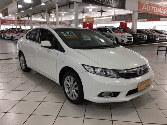 Honda Civic 1.8 Lxs Flex Aut. 4p - 2014 - Branco