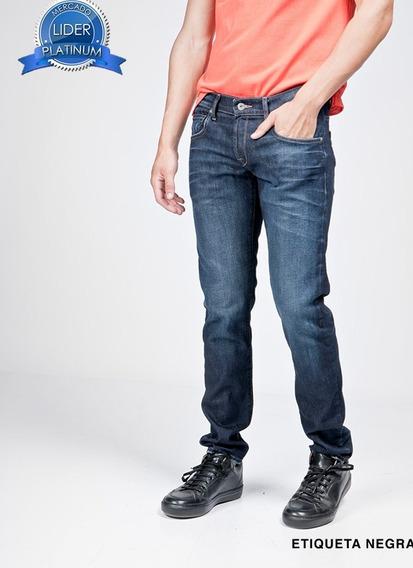 Pantalon Etiqueta Negra N7 Lavado Tracy Skinny Azul