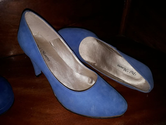 Zapatos Celestes Mujer