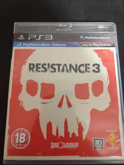 Resistance 3 Ps3 Mídia Física Playstation 3 Perfeito Estado