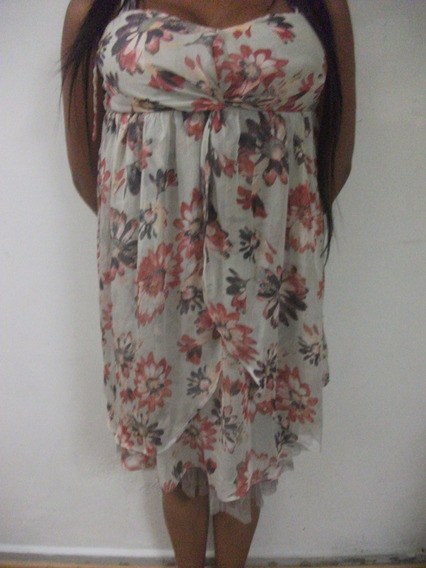 Vestido Floreado Para Dama Talla M Usado Tienda Virtual