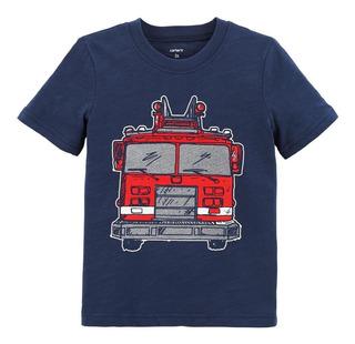 Carters Remera Nenes Camión De Bomberos Texturado