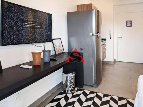 Studio Com 1 Dormitório Para Alugar, 30 M² Por R$ 2.550,00/mês - Brooklin - São Paulo/sp - St0173