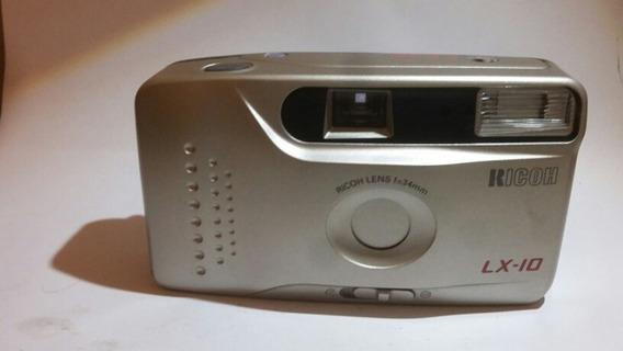 Máquina Fotografica Ricoh Lx10 A Filme.