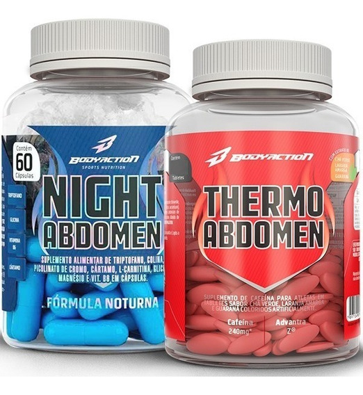 Kit Emagrecedor Abdomen - Dia E Noite - 120 Caps Body Action