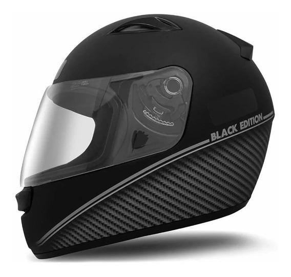 Capacete Moto Ebf New Spark Black Edition Preto/prata/rosa