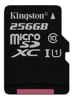 Tarjeta de memoria Kingston SDCS/256GB Canvas Select con adaptador SD 256GB