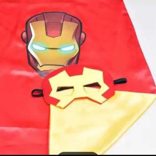 Kit Capa E Máscara Infantil Super Herói