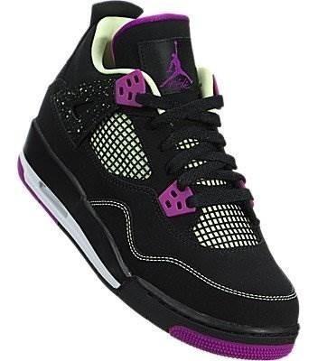 Jordan Nike Kids Air 4 Retro 30th Gg Negro / Fushsia Flash