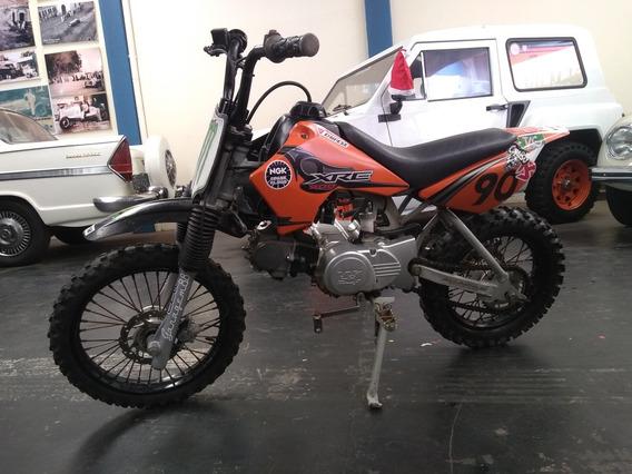 Mini Moto 90cc Partida No Pedal 4tempos Trilha Brinquedo