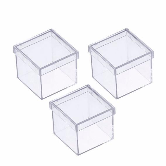 Caixinha Em Acrilico 4x4 (120 Unidades ) Lembrancinhas