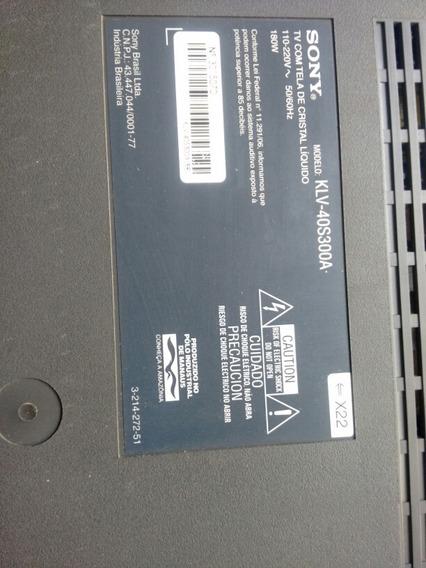 Tv Sony Bravia Klv-40s300a Sucata
