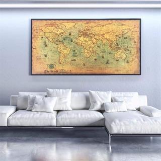 Nautico Oceano Mapa Del Mundo Retro Arte Papel Decoracion