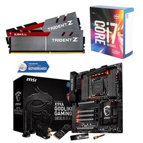 Godlike Gaming Carbon+i7-6800k 3.4ghz+16gb 3400mhz G.trident