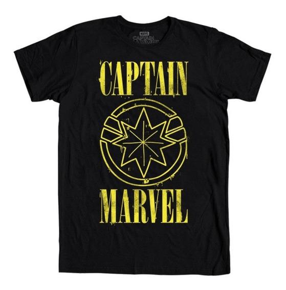 Playera Mascara De Latex Captain Marvel