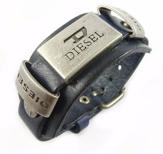 Pulseira Bracelete Couro Preta Pronta Entrega Bd2138