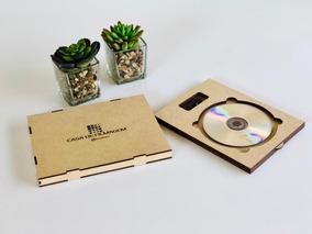 15 Caixas Mdf Para Cd Dvd E Pen Drive Ideal P/ Fotógrafos