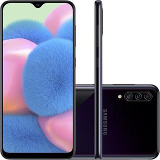 Smartphone Samsung Galaxy A30s 64gb Preta Câmera 25+5+8mp