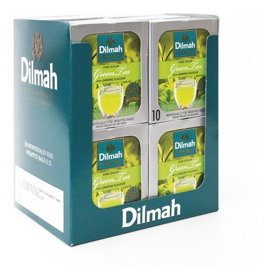 Té Verde Dilmah Jazmin Ceylon Display 12 Unidades.