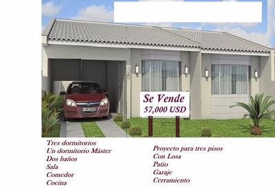 Se Vende Casa Por Estrenar 57,000 Usd