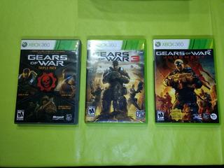 Gears Of War 1,2,3 Y Judgment, Originales, Para Xbox 360