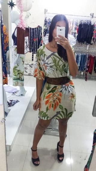 Vestido Soltinho Manga Curta Viscose