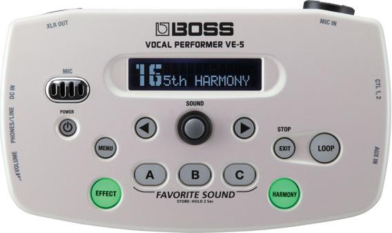 Procesador De Efectos Para Voz Boss Ve-5