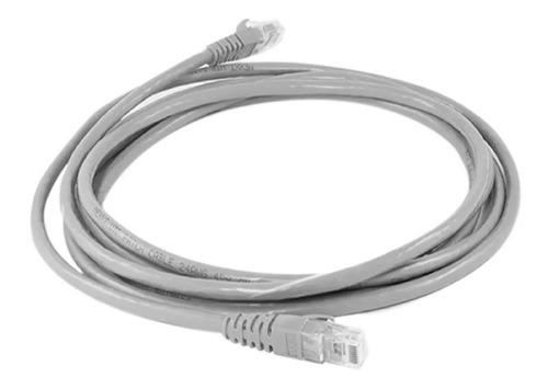 Imagen 1 de 2 de Cable Patch Cord Qpcom Cat6 Utp 2m Gris Rj45