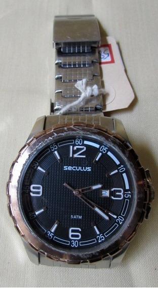 Relógio Pulso Masculino Seculus Cebolão Bateria, Funcionando