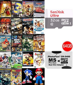 3000 Patch P/jogos Psp + Cartão 32gb Sandisk (classe 10+)