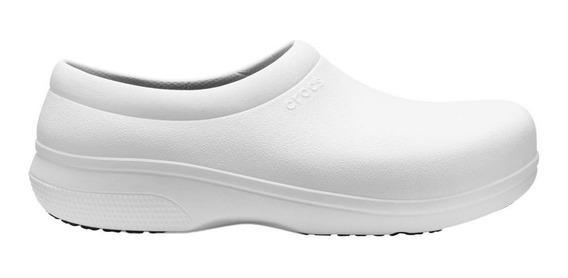 Crocs Unisex Chef, Clínico Onthe Clock Slipon Blanco