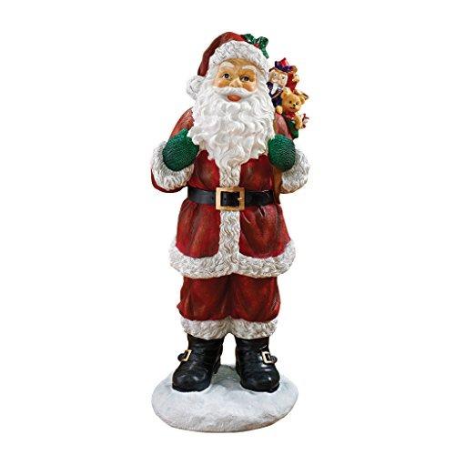 Decoraciones Navideñas Una Visita De Santa Claus Y Su Bolsa