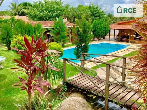 Chácara Com 5 Dormitórios À Venda, 2040 M² Por R$ 2.000.000 - Lagoa Azul - São Gonçalo Do Amarante/rn - Ch0006