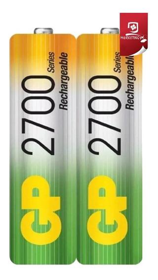 Pilas Baterias Recargables Gp Aa 2700 Mah 2 Unid Sellado