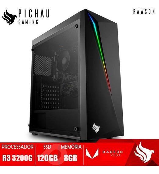 Pc Gamer Pichau Rawson, Ryzen 3 3200g, 8gb Ddr4, Ssd 120gb