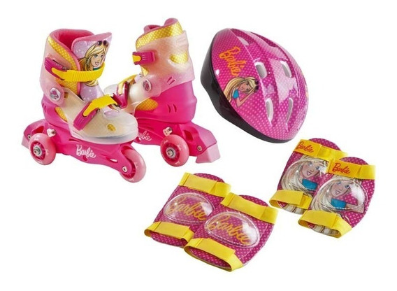 Patin Barbie 3 Ruedas + Accesorios - Baloval