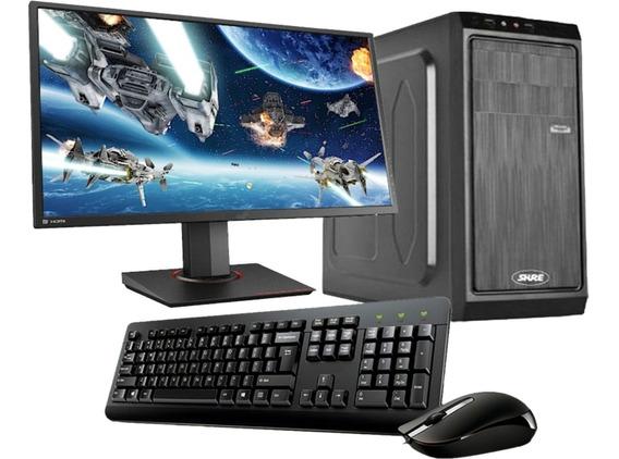 Pc Computadora Amd 3.5ghz Completa + Monitor 19 Nueva Cuotas