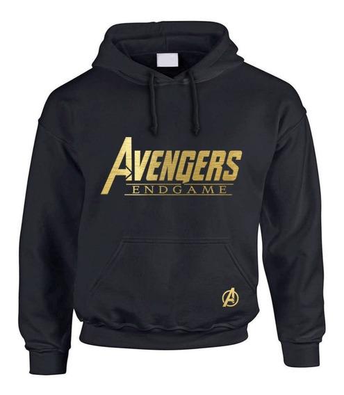Sudadera Hoodie Avengers Endgame Negra Con Dorado!!