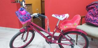Bicicleta De Niña. Halley Rodado 20