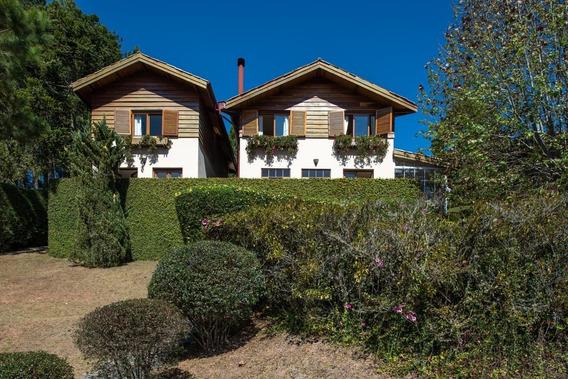 Casa De Campo Para Venda Em Campos Do Jordão, Morro Do Elefante, 5 Dormitórios, 3 Suítes, 5 Banheiros, 2 Vagas - Ag0060_1-1530648