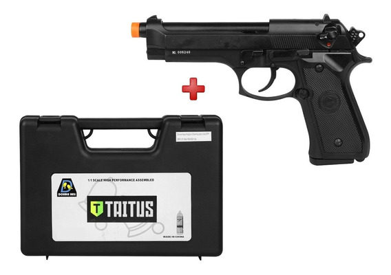 Pistola Airsoft Gbb M92 726 Full Metal Double Bell + Case